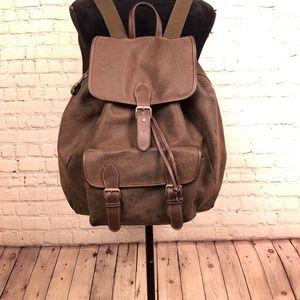 Leather like GAP backpack